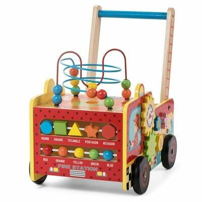 Baby Vivo Baby Walker / Lauflernhilfe aus Holz - Feuerwehr II