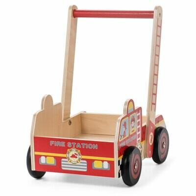 Baby Vivo Baby Walker / Lauflernhilfe aus Holz - Feuerwehr