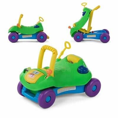 Baby Vivo 2in1 Lauflernwagen / Lauflernhilfe Multifunktional - Rutschauto in Grün