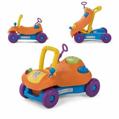 Baby Vivo 2in1 Lauflernwagen / Lauflernhilfe Multifunktional - Rutschauto in Orange