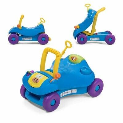 Baby Vivo 2in1 Lauflernwagen / Lauflernhilfe Multifunktional - Rutschauto in Blau