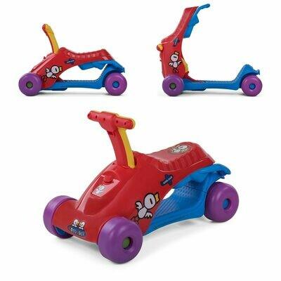 Baby Vivo 2in1 Lauflernwagen für Kinder Multifunktional - Scooter in Rot
