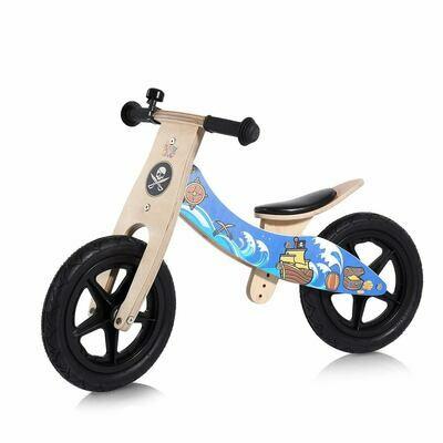 Baby Vivo 12 Zoll Kinderlaufrad / Laufrad aus Holz mit Klingel - Jack