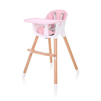 Baby Vivo Design 2in1 Kinderhochstuhl - Lani in Pink