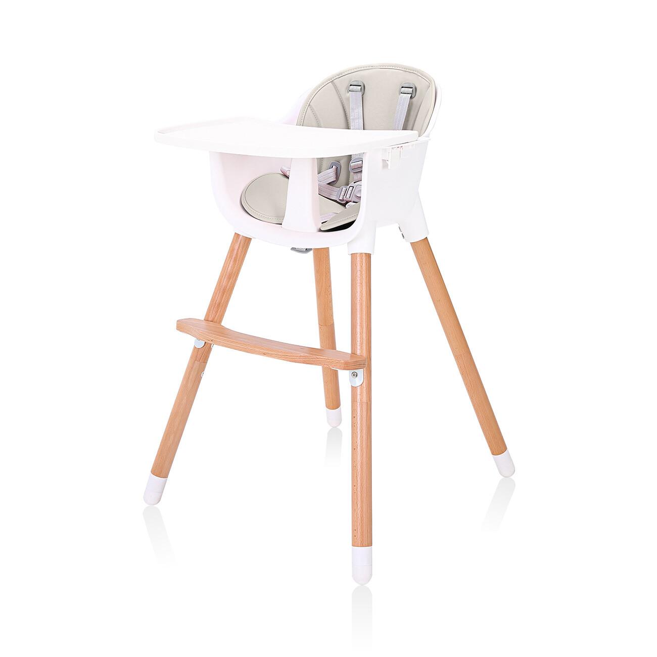 Baby Vivo Design 2in1 Kinderhochstuhl - Lani in Beige