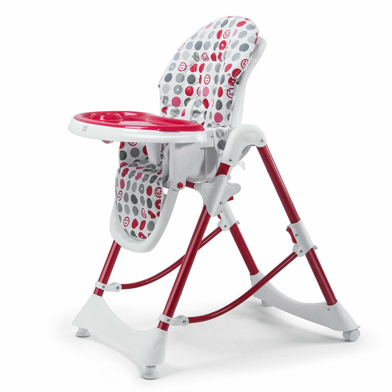Baby Vivo Design Kinderhochstuhl aus Kunststoff - Tippy in Dunkelrot