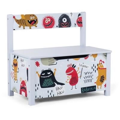 Baby Vivo Spielzeugtruhe und Sitzbank mit langsam schliessendem Deckel