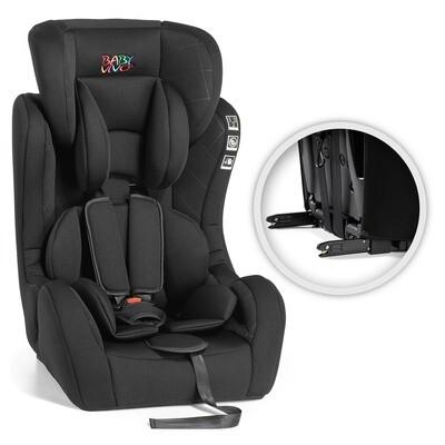 Baby Vivo Kindersitz / Autositz mit ISOFIX BEN von 9-36 kg für Gruppe 1+2+3 in Schwarz