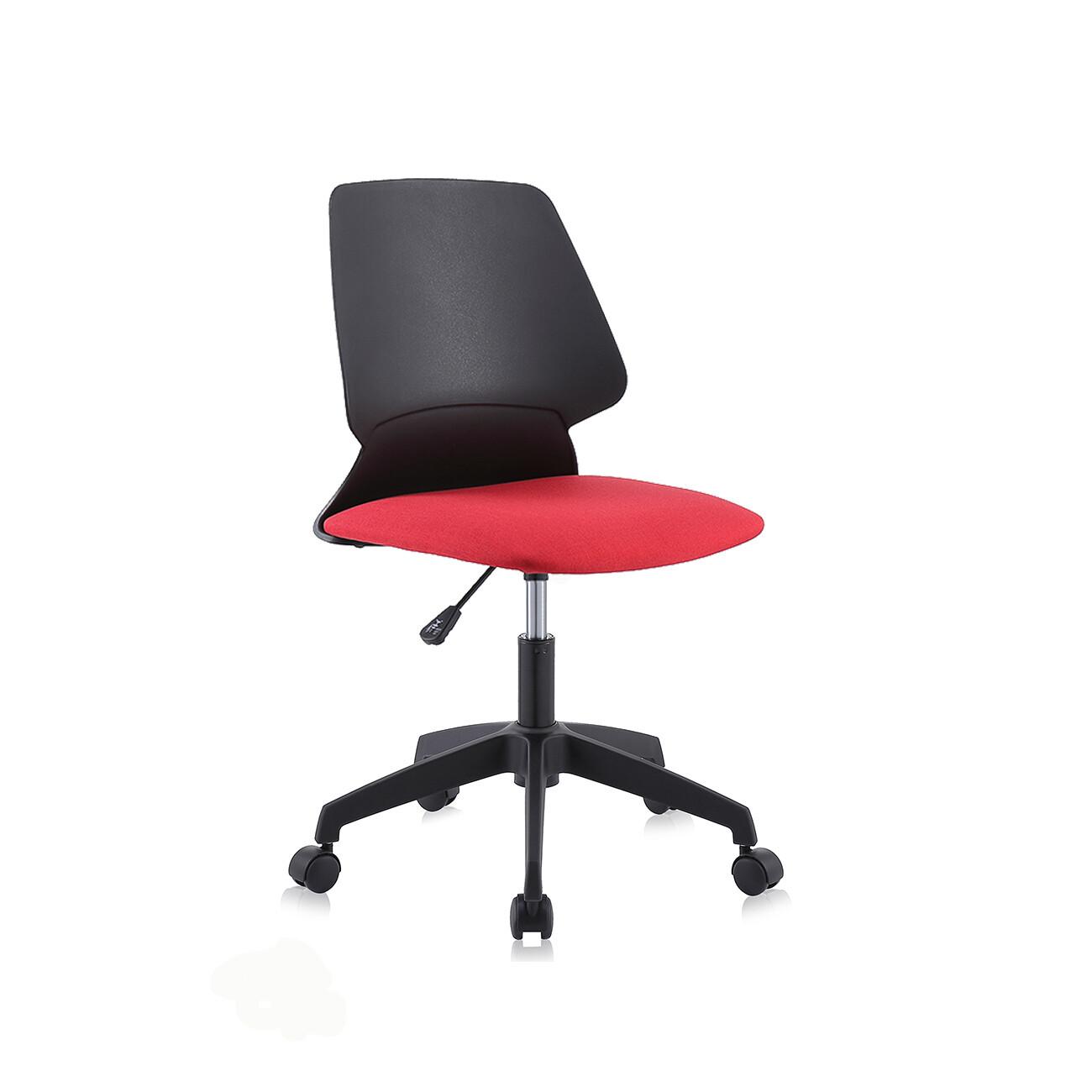 MY SIT Bürostuhl / Design-Hocker Drehstuhl Stuhl NEO in Schwarz/Rot mit Weichbodenrollen