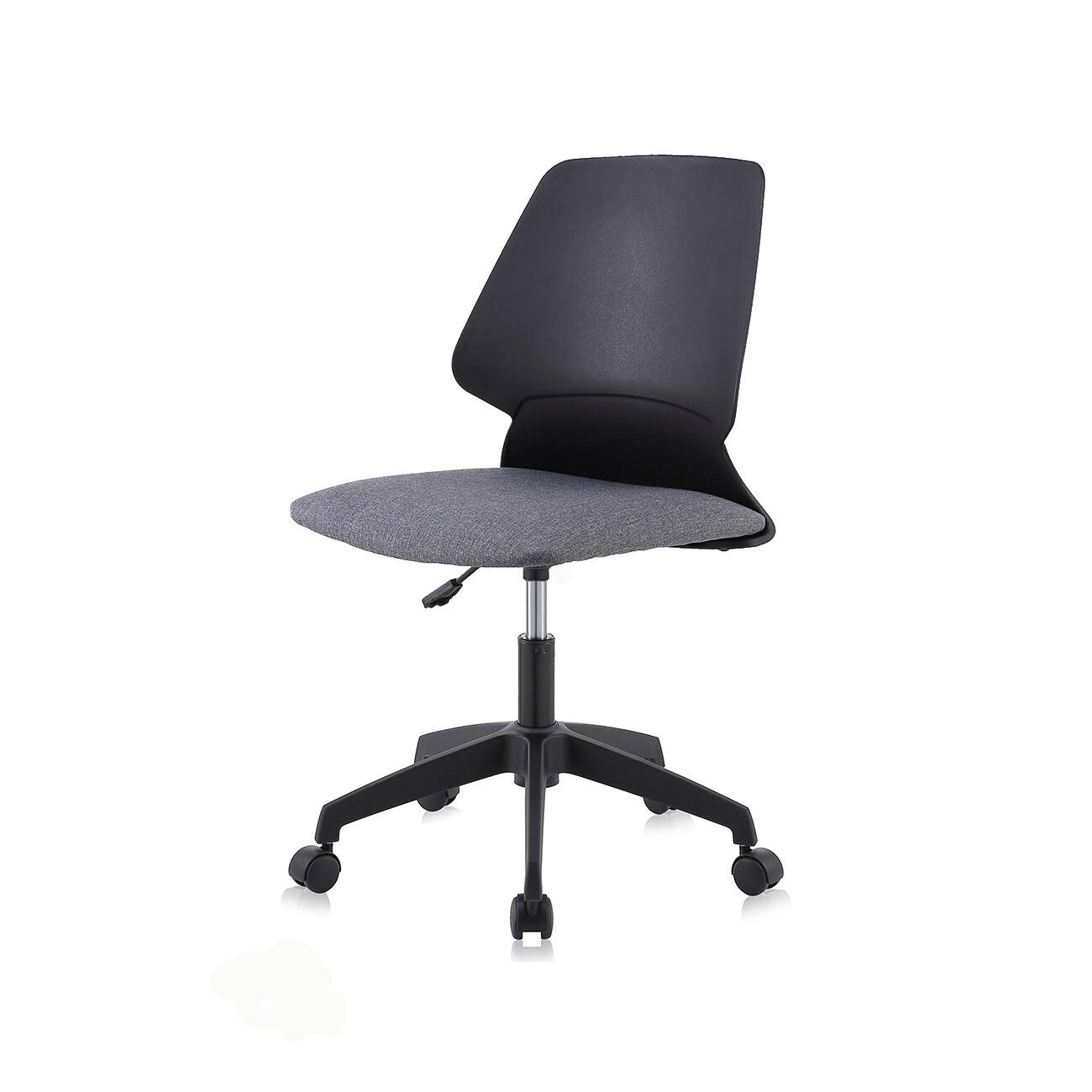 MY SIT Bürostuhl / Design-Hocker Drehstuhl Stuhl NEO in Schwarz/Grau mit Weichbodenrollen