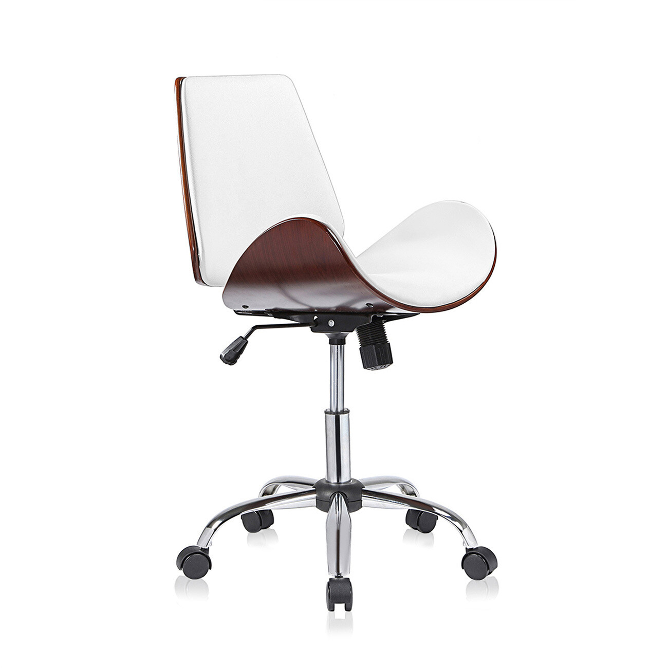 MY SIT Design-Bürostuhl Drehhocker - Constance in Weiss/Braun