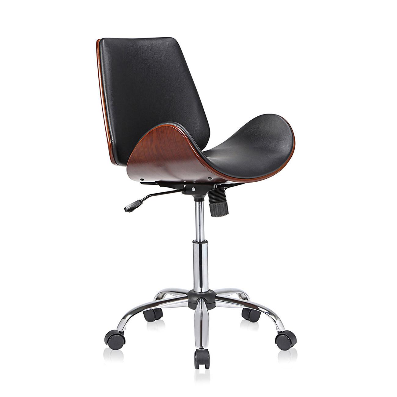 MY SIT Design-Bürostuhl Drehhocker - Constance in Schwarz/Braun