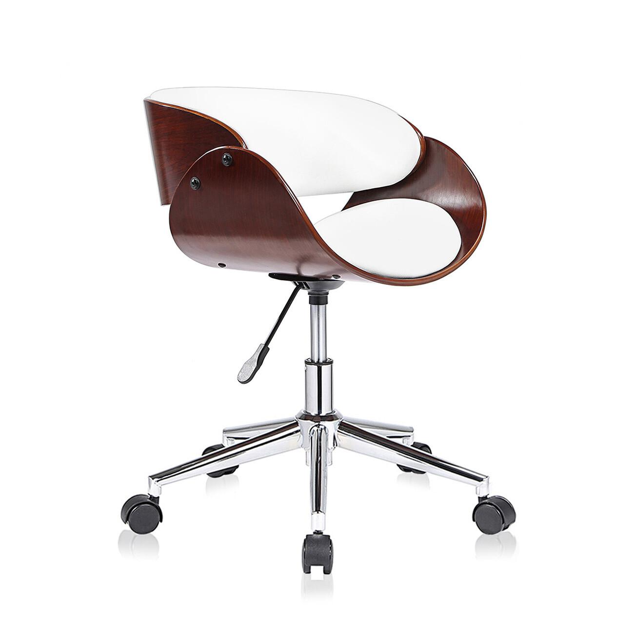 MY SIT Design-Bürostuhl Drehhocker - Hazel in Weiss/Braun