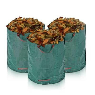 MAXCRAFT 3x Laubsack / Gartensack Set aus robustem Polyethylen - 280 Liter