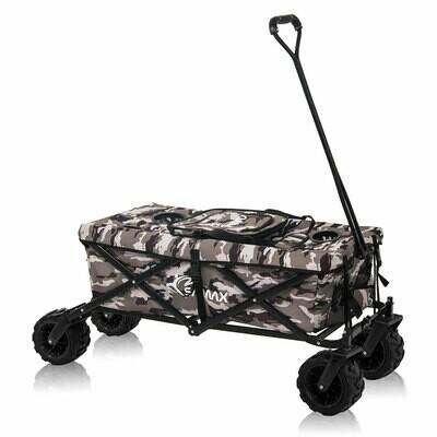SAMAX Faltbarer Bollerwagen mit Kühltasche Offroad Cool - Camouflage Tarnmuster