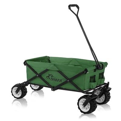 SAMAX Faltbarer Bollerwagen Offroad - Grün