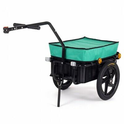 SAMAX Lastenanhänger / Fahrradanhänger für 60 Kg / 70 Liter in Grün