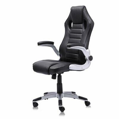 MY SIT Racing Chair Bürostuhl aus Kunstleder Schwarz V10