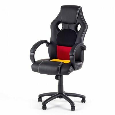 MY SIT Racing Chair Bürostuhl aus Kunstleder - Germany Fan Edition