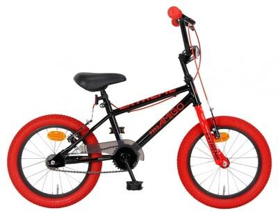 AMIGO Velo / Fahrrad BMX Extreme 16 Zoll 25,4 cm Junior Felgenbremse Schwarz/Rot