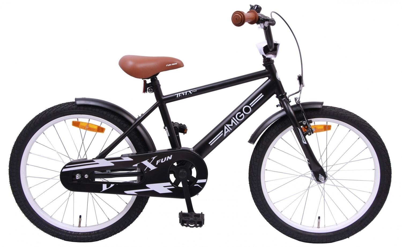 AMIGO Velo / Fahrrad BMX Fun 20 Zoll Jungen Rücktrittbremse Mattschwarz