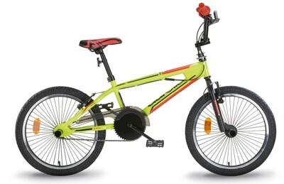 Aurelia BMX Freestyle 20 Zoll 49 cm Velo Fahrrad Jungen Felgenbremse Gelb