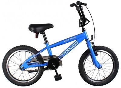 Bike Fun BMX Cross Tornado 16 Zoll Junior Rücktrittbremse Blau