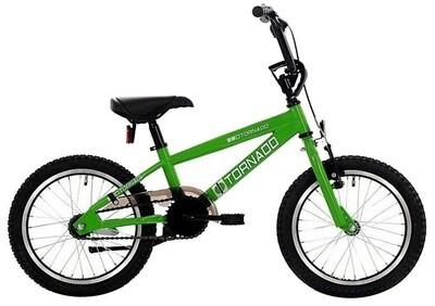 Bike Fun BMX Cross Tornado 16 Zoll Junior Rücktrittbremse grün