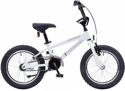 Bike Fun BMX Cross Tornado 16 Zoll Junior Rücktrittbremse weiss