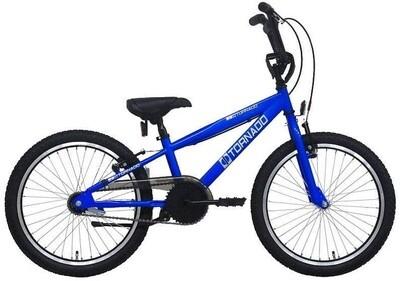 Bike Fun BMX Cross Tornado 20 Zoll Junior Rücktrittbremse blau
