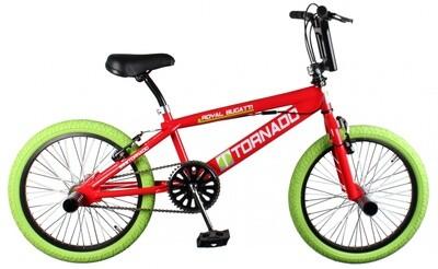 BMX Bike Fun Tornado 20 Zoll Unisex Felgenbremse Rot/Grün