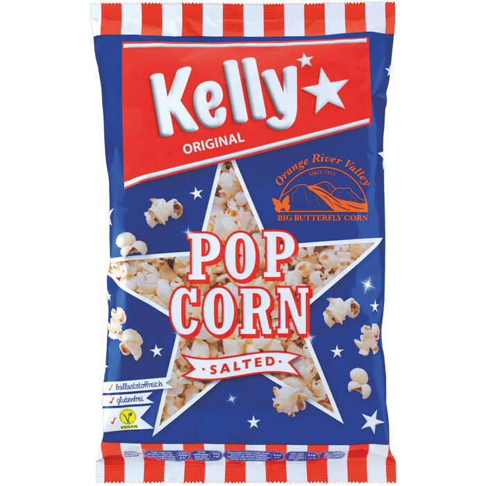 Grosspackung Kelly´s Popcorn gesalzen 10 x 90 g = 0,9 kg