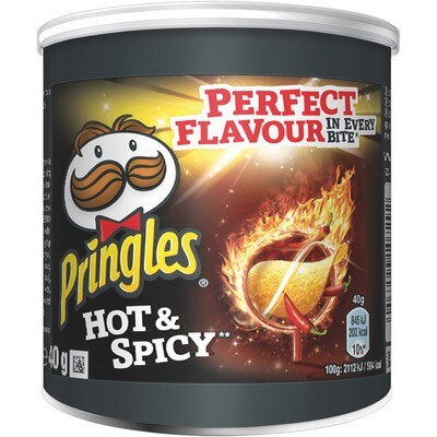 Grosspackung Pringles Hot & Spicy 12 x 40 g = 0,48 kg