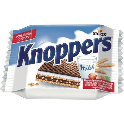 Grosspackung Storck Knoppers 24 x 25 g = 0,6 kg