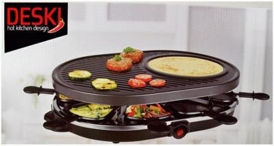 Raclette Grillplatte - 8 Personen