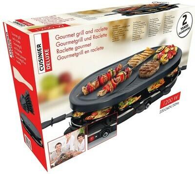 Grillplatte Gourmetset Raclette 8 Personen