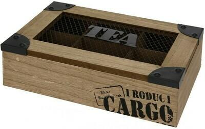 Teekiste / Teebox - 6 Fächer - Cargo