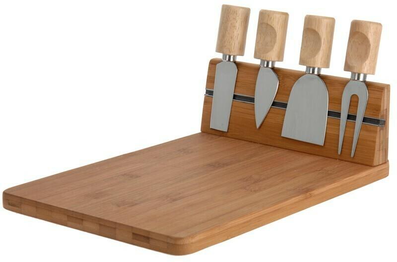Excellent Houseware Käsebrett mit 4 Messer