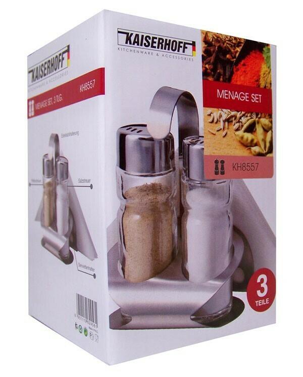 Kaiserhoff Menage-Set Pfeffer- und Salzset, Standard, Serviettenhalter
