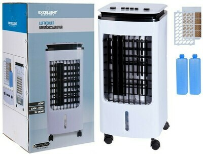 Luftkühler - 3 Liter - 80 Watt (Klimagerät, Ventialtor, Klimaanlage)