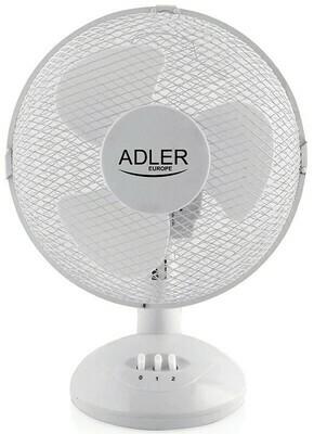 Adler AD7302 - Tischventilator weiss - 23cm