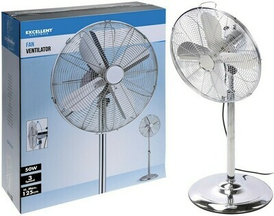 Chrom-Ventilaotor mit 3 Geschwindigkeiten