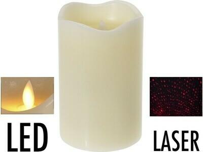 LED Kerze mit Laser - 12,5 cm