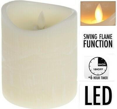 Kerze realistische Flamme 10x12cm