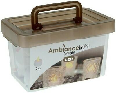 Box mit 24 LED Teelichtern