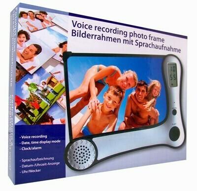 Fotorahmen / Bilderrahmen mit Sprachaufnahme und Uhr