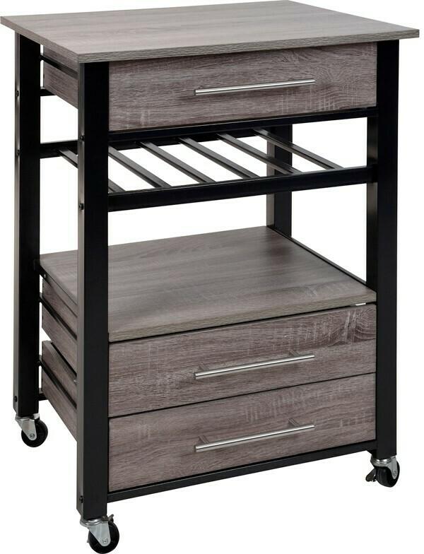 Luxusküchenwagen - Metall und Holz