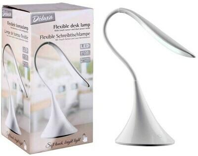 Flexible USB-Schreibtischlampe - weiss