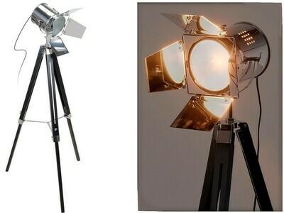Industrial Style Stehlampe - Metall und Holz - 143 cm