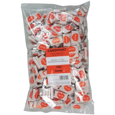 Grosspackung Candyport Napolitains Danke im Beutel 250er 750g